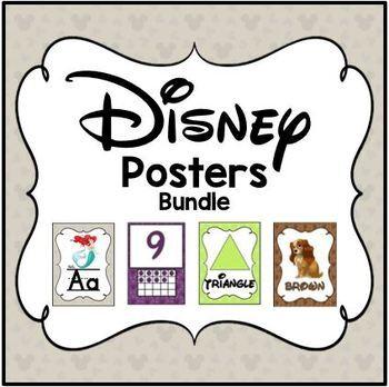 Disney Posters (Alphabet/Color/Poster/Number)