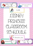 Disney Princess Classroom Schedule