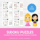 Disney Princess Inspired Sudoku Puzzles