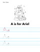 Disney Princess Letter Tracing Worksheets A-Z - Letter Tracing Activities