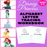 Disney Princess Letter Tracing Worksheets A-Z - Letter Tra