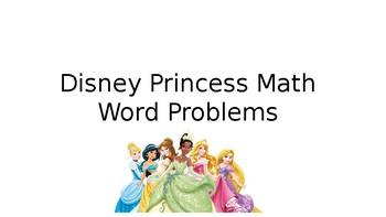Disney Princess Math Word Problems