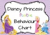 Disney Princess Positive Behaviour Chart