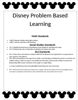 Disney Problem Based Learning Project