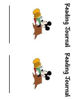 Disney Reading Journal Cover