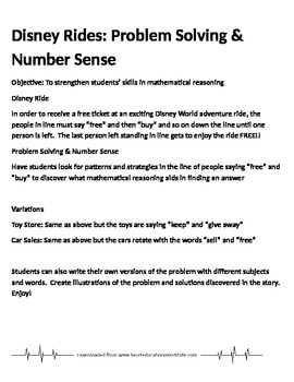 Disney Ride Problem Solving