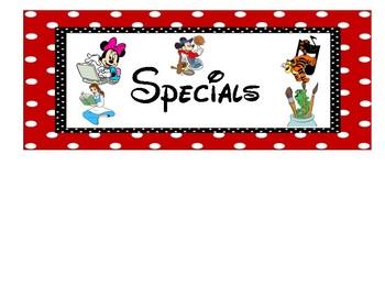 Disney Schedule Cards