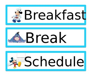 Disney Schedule with colors_ editable