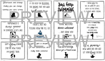 Disney Song Lyric Inspirational Classroom Posters