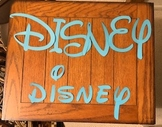 Disney Style Letter Stencils for Banners, Bulletin Boards
