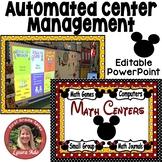 Disney Style Math Centers Rotations Editable Powerpoint