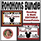 Disney Style Math & Reading Center Rotations Bundle
