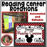 Disney Style Reading Centers Rotations Editable Powerpoint