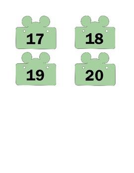 Disney Task Work Box Labels