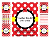 Red Bow Teacher Binder 2019-2020 (Covers, Spines, Forms & Calendars) Editable