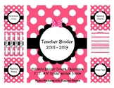Pink Bow Teacher Binder 2018-2019 (Covers, Spines, Forms & Calendars) Editable