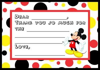 Disney Thank You Notes