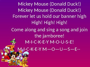 Disney The Music! Musical Lyric powerpoint