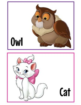 Disney Theme Animal Cards