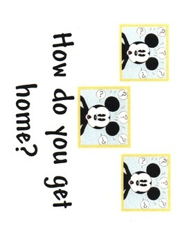 Disney Theme  Classroom Transportation Signs