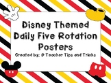 Disney Theme Daily Five Posters
