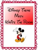 Disney-Theme Math Write the Room