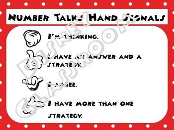 Disney Theme Number Talks Hand Signals