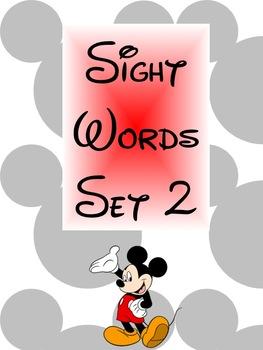 Disney-Theme Sight Words Set 2