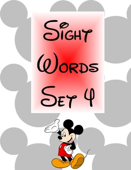 Disney-Theme Sight Words Set 4