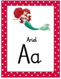 Disney Themed Alphabet Chart - Natalia Script