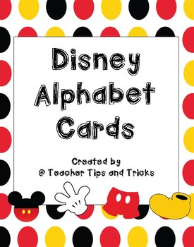 graphic relating to Disney Letters Printable named Disney Themed Alphabet Posters Print Letters *Mickey Mouse*