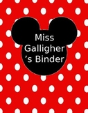Disney Themed Binder Covers