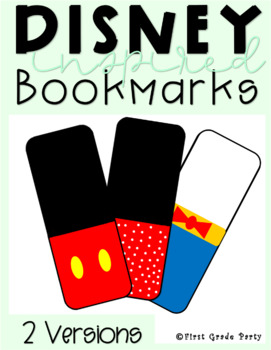 Disney Themed Bookmarks