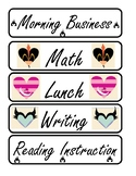 Disney Themed Class Schedule Cards