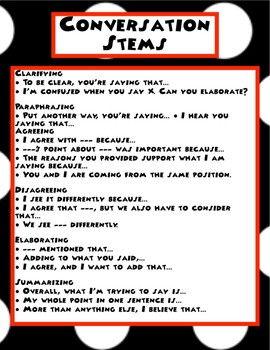 Disney Themed Classroom - Conversation Stems