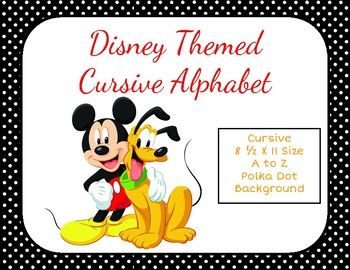 Disney Themed Classroom Cursive Alphabet