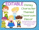 EDITABLE: Disney Themed Classroom Decor
