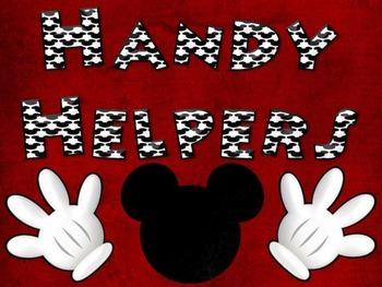 Disney Themed Classroom Jobs