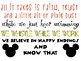 Disney Themed Classroom Rules Poster