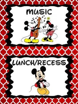 Disney Themed Classroom Signs