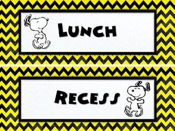 Snoopy Themed Classroom Signs