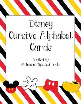 Disney Themed Cursive Alphabet *Mickey Mouse *
