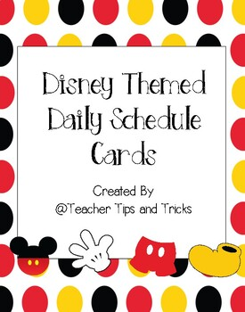 Disney Themed Daily Schedule Cards ** Mickey Mouse **