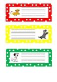 Disney Themed Desk Name Labels