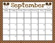 Disney Themed Editable Calendar (Aug. 2018-July 2019)