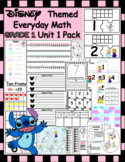 Disney Inspired Everyday Math 1st Grade Unit 1 Pack | No Prep | Activities