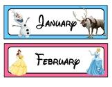 Disney Themed Full Year Calendar Set