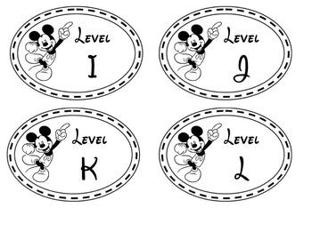 Disney Themed Guided Reading