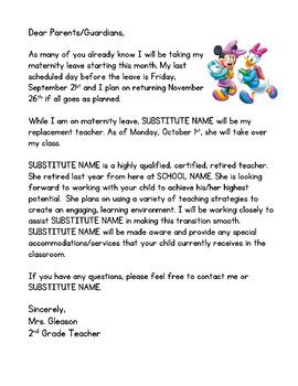 Leave Letter To Teacher from ecdn.teacherspayteachers.com
