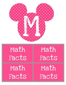 Disney Themed Math Workshop Rotation Board